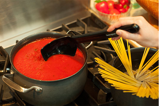 Cooking Spaghetti with Saucepan Chef