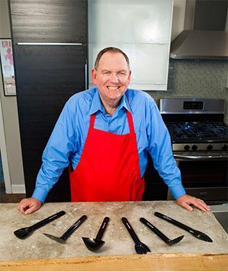 Ellis Regini and the Saucepan Chef Kitchen Utensils
